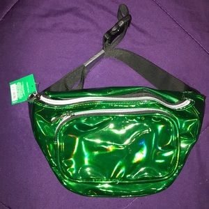 NWT Green Iridescent Fanny Pack